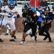 Spartans Clinch Home Playoff Opener, Down Blue Devils 42-32