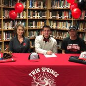 Twin Springs' Reed inks with UVA Wise to continue his baseball career